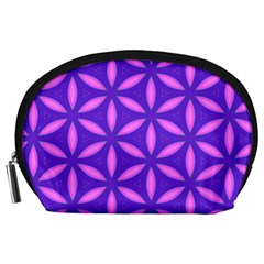Pattern Texture Backgrounds Purple Accessory Pouch (large)