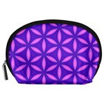 Pattern Texture Backgrounds Purple Accessory Pouch (Large) Front