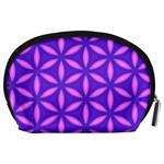 Pattern Texture Backgrounds Purple Accessory Pouch (Large) Back