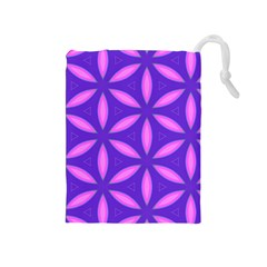 Pattern Texture Backgrounds Purple Drawstring Pouch (Medium)