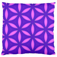 Pattern Texture Backgrounds Purple Large Flano Cushion Case (One Side)