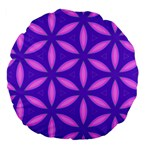 Pattern Texture Backgrounds Purple Large 18  Premium Flano Round Cushions Back