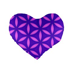 Pattern Texture Backgrounds Purple Standard 16  Premium Flano Heart Shape Cushions