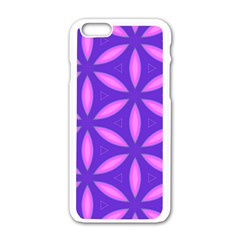 Pattern Texture Backgrounds Purple iPhone 6/6S White Enamel Case