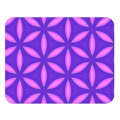 Pattern Texture Backgrounds Purple Double Sided Flano Blanket (Large)