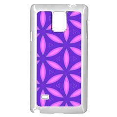 Pattern Texture Backgrounds Purple Samsung Galaxy Note 4 Case (White)