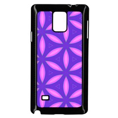Pattern Texture Backgrounds Purple Samsung Galaxy Note 4 Case (Black)