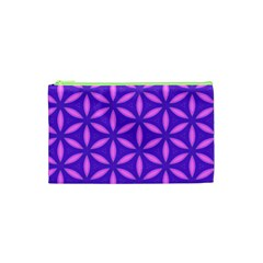 Pattern Texture Backgrounds Purple Cosmetic Bag (xs) by HermanTelo