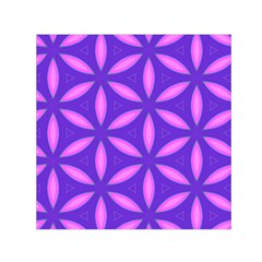 Pattern Texture Backgrounds Purple Small Satin Scarf (Square)