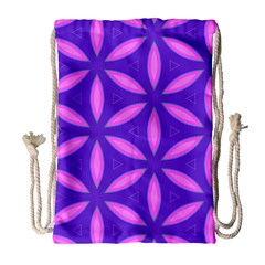 Pattern Texture Backgrounds Purple Drawstring Bag (large) by HermanTelo