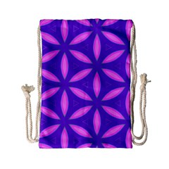 Pattern Texture Backgrounds Purple Drawstring Bag (Small)