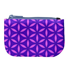 Pattern Texture Backgrounds Purple Large Coin Purse