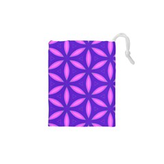 Pattern Texture Backgrounds Purple Drawstring Pouch (xs) by HermanTelo