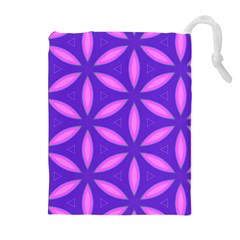 Pattern Texture Backgrounds Purple Drawstring Pouch (XL)