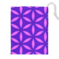 Pattern Texture Backgrounds Purple Drawstring Pouch (XXL)