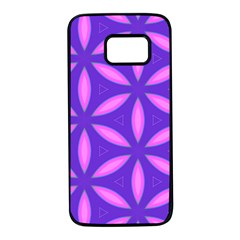 Pattern Texture Backgrounds Purple Samsung Galaxy S7 Black Seamless Case