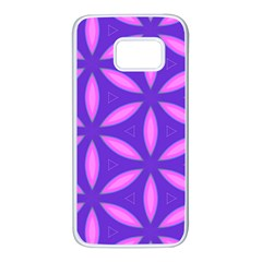 Pattern Texture Backgrounds Purple Samsung Galaxy S7 White Seamless Case
