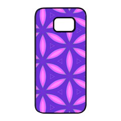 Pattern Texture Backgrounds Purple Samsung Galaxy S7 edge Black Seamless Case