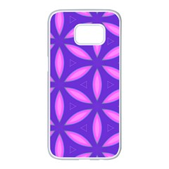 Pattern Texture Backgrounds Purple Samsung Galaxy S7 edge White Seamless Case