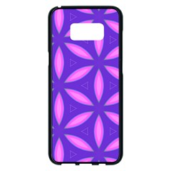 Pattern Texture Backgrounds Purple Samsung Galaxy S8 Plus Black Seamless Case