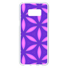 Pattern Texture Backgrounds Purple Samsung Galaxy S8 Plus White Seamless Case