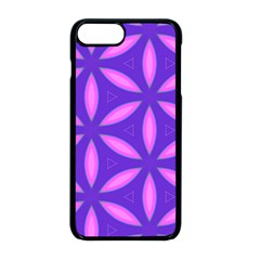 Pattern Texture Backgrounds Purple iPhone 8 Plus Seamless Case (Black)