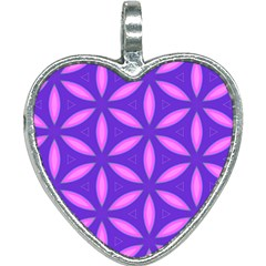 Pattern Texture Backgrounds Purple Heart Necklace by HermanTelo