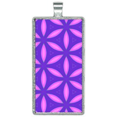Pattern Texture Backgrounds Purple Rectangle Necklace by HermanTelo