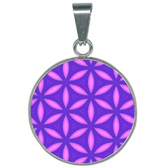 Pattern Texture Backgrounds Purple 25mm Round Necklace by HermanTelo