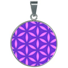 Pattern Texture Backgrounds Purple 30mm Round Necklace by HermanTelo