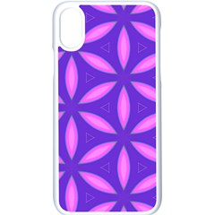 Pattern Texture Backgrounds Purple iPhone XS Seamless Case (White)