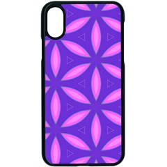 Pattern Texture Backgrounds Purple iPhone XS Seamless Case (Black)