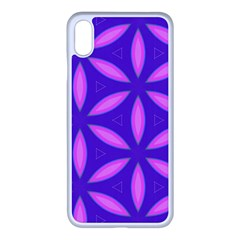 Pattern Texture Backgrounds Purple iPhone XS Max Seamless Case (White)