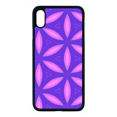 Pattern Texture Backgrounds Purple iPhone XS Max Seamless Case (Black)