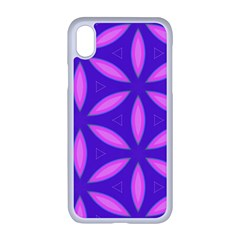 Pattern Texture Backgrounds Purple iPhone XR Seamless Case (White)