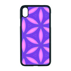 Pattern Texture Backgrounds Purple iPhone XR Seamless Case (Black)