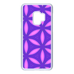 Pattern Texture Backgrounds Purple Samsung Galaxy S9 Seamless Case(White)