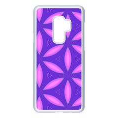 Pattern Texture Backgrounds Purple Samsung Galaxy S9 Plus Seamless Case(White)