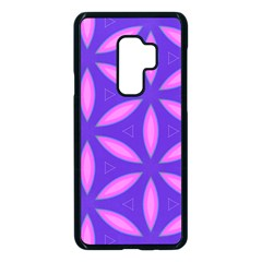 Pattern Texture Backgrounds Purple Samsung Galaxy S9 Plus Seamless Case(Black)