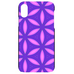 Pattern Texture Backgrounds Purple iPhone XR Black UV Print Case