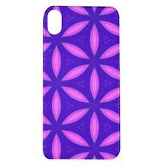 Pattern Texture Backgrounds Purple Apple iPhone XR TPU UV Case