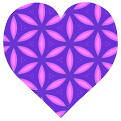 Pattern Texture Backgrounds Purple Wooden Puzzle Heart