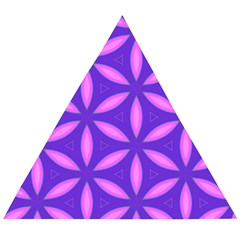 Pattern Texture Backgrounds Purple Wooden Puzzle Triangle