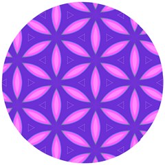 Pattern Texture Backgrounds Purple Wooden Puzzle Round