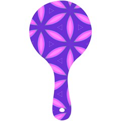 Pattern Texture Backgrounds Purple Mini Wooden Mirror
