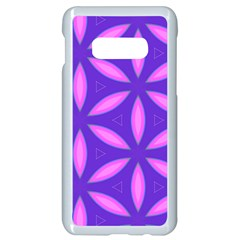 Pattern Texture Backgrounds Purple Samsung Galaxy S10e Seamless Case (White)