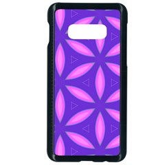 Pattern Texture Backgrounds Purple Samsung Galaxy S10e Seamless Case (Black)