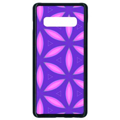 Pattern Texture Backgrounds Purple Samsung Galaxy S10 Plus Seamless Case (Black)