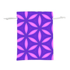Pattern Texture Backgrounds Purple Lightweight Drawstring Pouch (L)