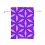 Pattern Texture Backgrounds Purple Lightweight Drawstring Pouch (L) Back